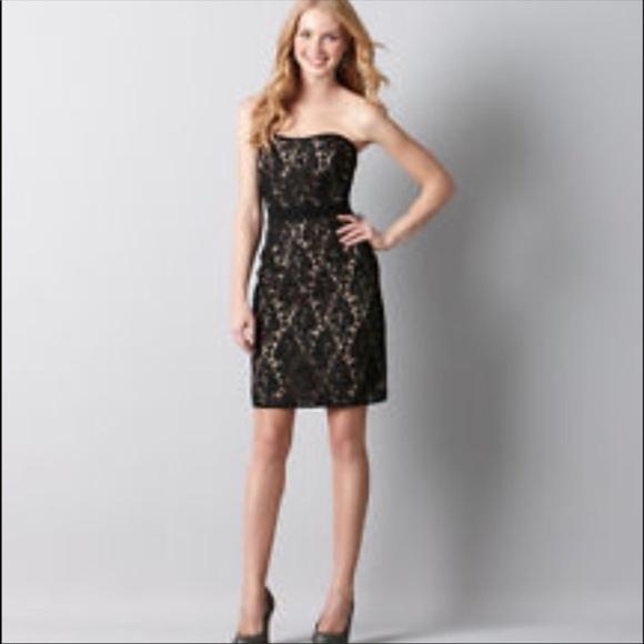 LOFT Dresses & Skirts | NWT Ann Taylor Black Lace Cocktail Dress ...